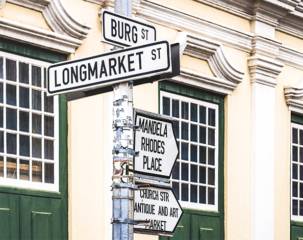 Cape Town Longmarket Street sign